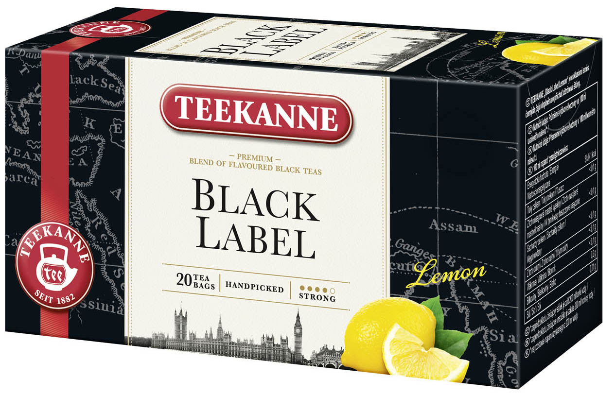 Teekanne Black Label Lemon 20x1,65g