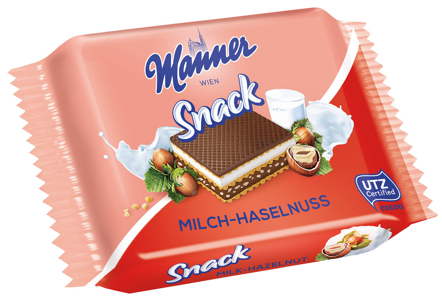 Manner Snack 25g Milk-Hazelnut Wafer