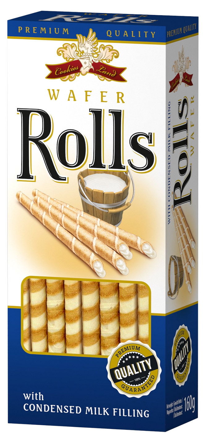 Cookiesland Wafer-roll Milk 160g