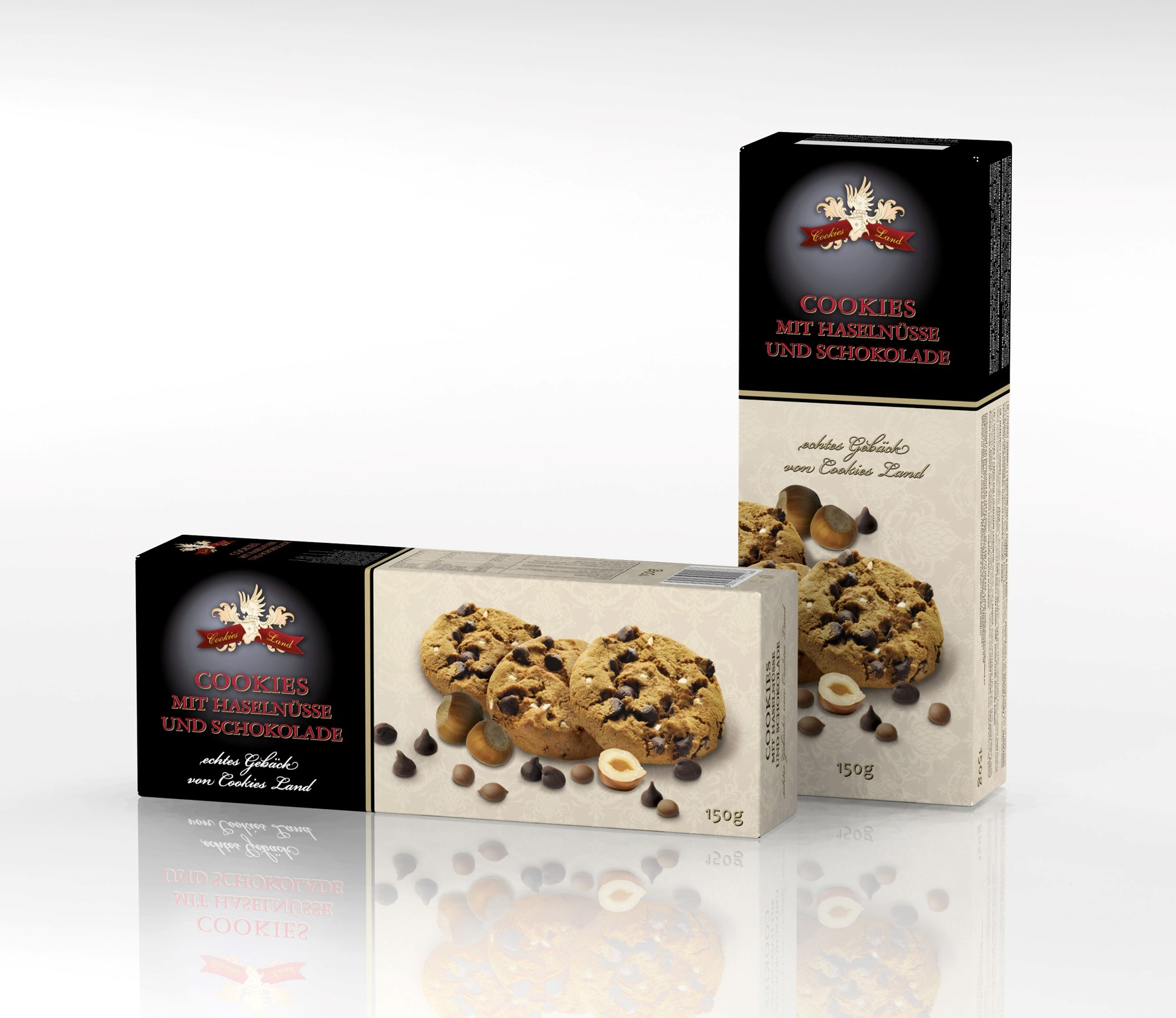 K box Cookies Haselnuss 150g