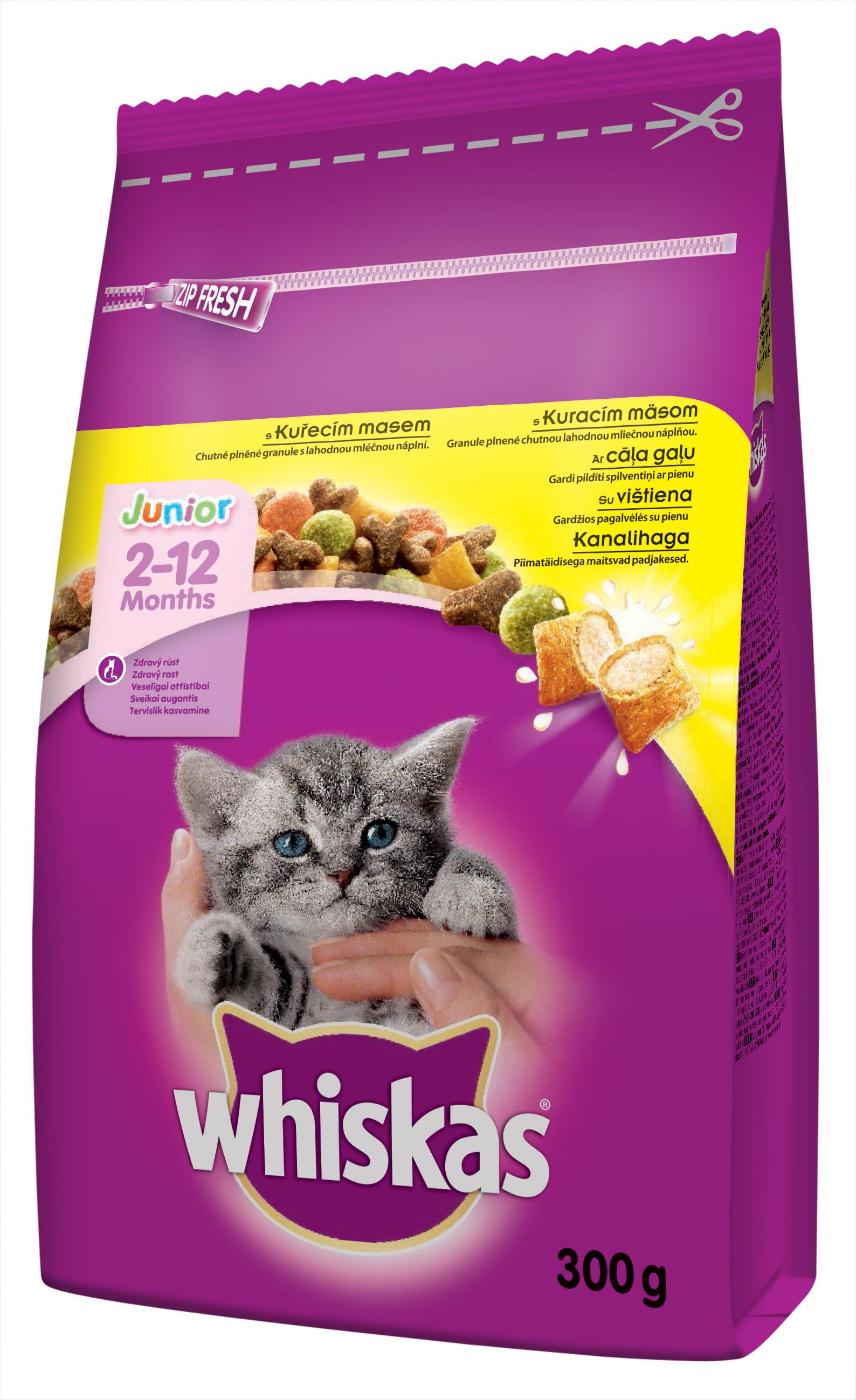 Whiskas granule Junior Kuře 300g