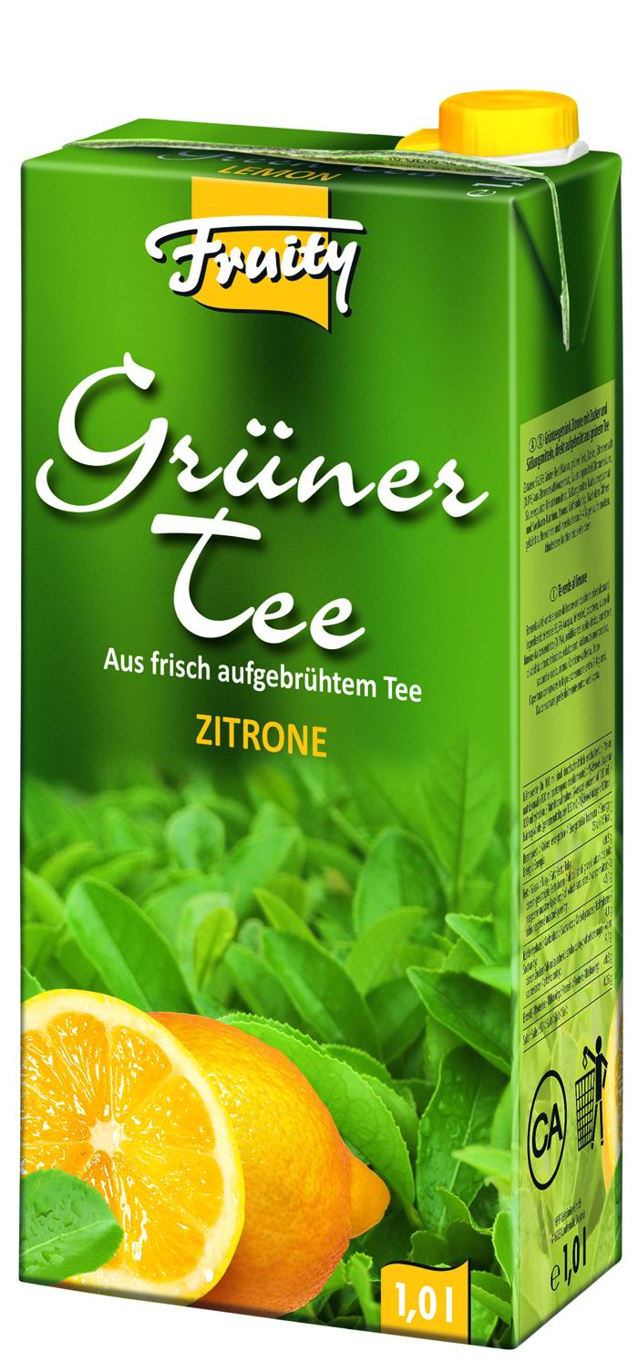 Fruity GreenTea Citron 1l Tetrapack