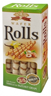 WaferRolls Vanil+Hazelnut 160g
