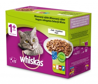 Whiskas kapsa 12pack 12*100g Mix ve štávě